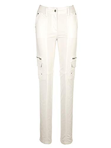 Paola Damen Cargohose Weiß 19 Baumwolle