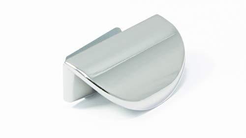 LGM-Beschlag Möbelgriff Luckau, Modern, Klemmgriff, Kunststoff metallisiert - chrom glänzend, 42 mm x 21 mm x 15 mm, 46500