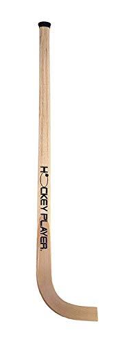 HOCKEYPLAYER Stick para Jugador de Hockey sobre Patines de Ruedas en Paralelo en Madera de Fresno, de construcción compacta, Mango Estrecho, Flexible, Ultra Ligero y Resistente (101 cm)