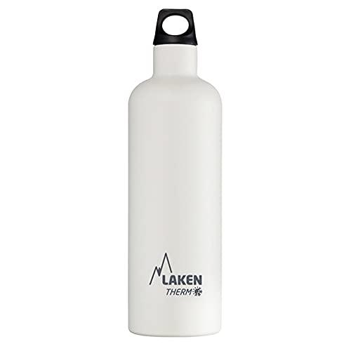 Bouteille isotherme Futura de Laken en acier inoxydable avec isolation sous vide et goulot étroit 750 ml Blanc
