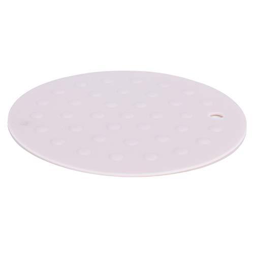 Gaeirt Almohadillas aislantes, diseño Colgante Material de Silicona Inodoro Buen Aislamiento térmico Mantel Individual para cocinas Familiares para mesas de Comedor(Polvo de Albaricoque Simple)