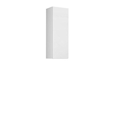 Mirjan24 Hängevitrine Vigo 90, Vitrinenschrank, Grifflose Öffnen, Farbauswahl, Stauraumvitrine Hochschrank, Wohnzimmer Highboard, Schrank, Vitrine (Weiß/Weiß Hochglanz)