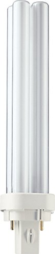 Philips 62100970 energy-saving lamp 26 W Cool white B - Lámpara (26 W, 2P, 1800 lm, Cool white, 6500 h, White)