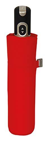 doppler Taschenschirm Carbonsteel Magic Uni – Extrem stabil – Auf-und-Zu-Automatik – Red