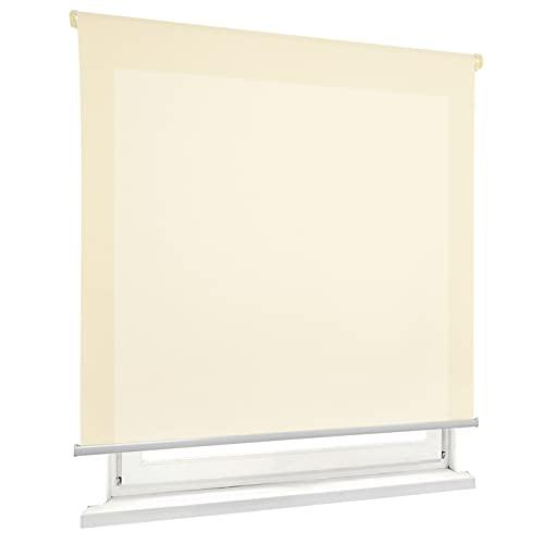 HOME MERCURY - Estor Enrollable translúcido Liso (150x180 cm, Beige)