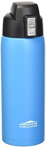 Aquatix FlipTop Sport Bottle COMIN18JU022007 Aquatix FlipTop Double Walled Insulated Bottles, Stainless Steel, Sea Mist Blue