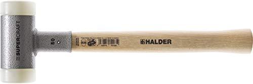 ハルダー (HALDER) ショックレス 無反動 スーパークラフト ハンマー ヒッコリー製ハンドル ナイロン (白) 径30 3366.030