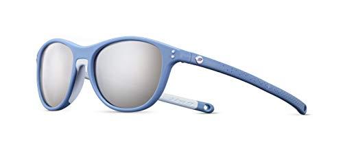 Julbo Nollie - Gafas de sol para niños, marco azul/azul claro, lente ahumada con espejo plateado