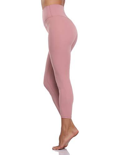 Colorfulkoala Women's Buttery Soft High Waisted Yoga Pants Full-Length Leggings (XS, Mauve Pink)