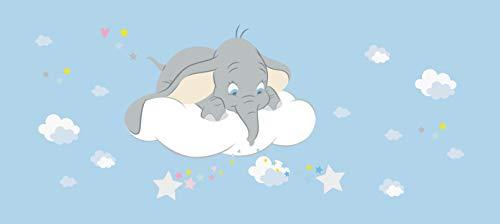 AG Design Dumbo in den Wolken, Disney, Vlies Fototapete für EIN Kinderzimmer, 202 x 90 cm, FTDN H 5389, Blau