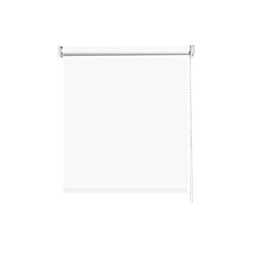 MADECOSTORE Store Enrouleur Tamisant Tissu Uni Blanc - L41 x H190cm - Avec perçage