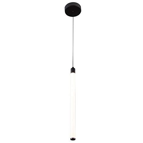 Moderne LED Hängeleuchte mit schwarzem Metallrahmen, höhenverstellbar, Acrylschirm weiß, 950 LM 220-240V