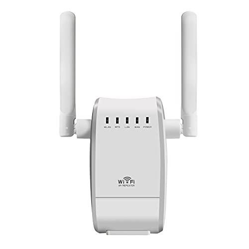 Lightofhope Repetidor WiFi InaláMbrico Amplificador WiFi 2,4G 5Ghz Amplificador WiFi 300Mbps 1200Mbps SeeAl WiFi Extensor de Largo Alcance Enchufe de la UE