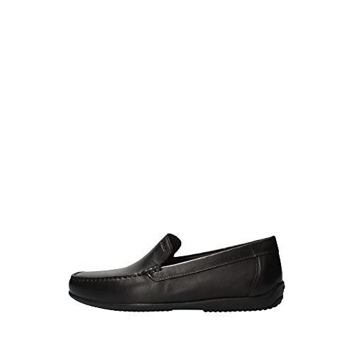 Geox U ASCANIO A, Loafer Flat Homme, Noir, 41 EU