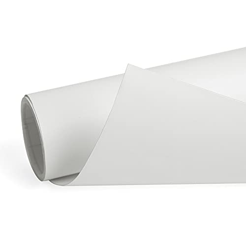 sourcing map 152cm x 60cm Blanco Mate Autoadhesiva Película de Vinilo de Carrocería de Coche