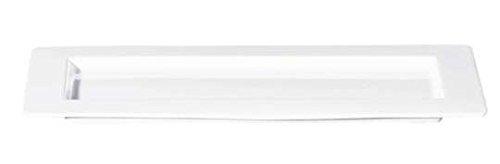 ASA 4790147 Grande Assiette rectangulaire en céramique Blanc Brillant 43 x 20 x 10 cm