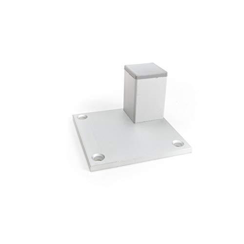 Lote de 8 patas de muebles de 50 mm de altura perfil angular: 30 x 30 mm, material: aluminio, tornillos incluidos (8)