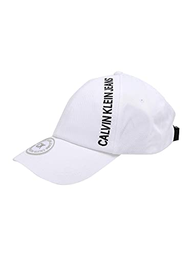 Calvin Klein Ckj Street Safety cap Berretto da Baseball, Bianco (Bright White Yaf), Unica (Taglia Produttore: OS) Uomo