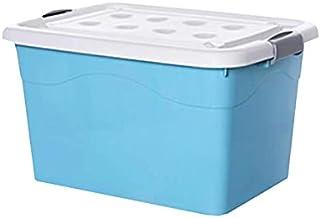 Lpiotyucwh Paniers et Boîtes De Rangement, Boîte de Garde en Plastique, avec Couvercle et Roue attachées, (Bleu, Rose) 1pa...