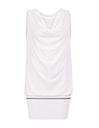 Wolford Rich Lax Tunic, Tunica, Top lang/kurz, Kleid (S, White/Grey)
