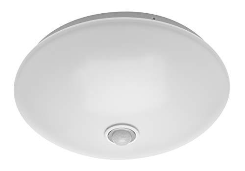 CGC Rond Wit Opaal Binnen Buiten Wand Plafondlamp Schot met Bewegingssensor PIR 18W 1200lm 4000K AC220-240V IP44 32cm Ideaal voor Badkamer Veranda Hal Slaapkamer Keuken Buiten Tuin