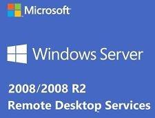 MS Windows Server 2008 RDS TS: 5 licenze CALS Servizi Desktop remoto - Servizi terminal - HP (Physical License Pack)