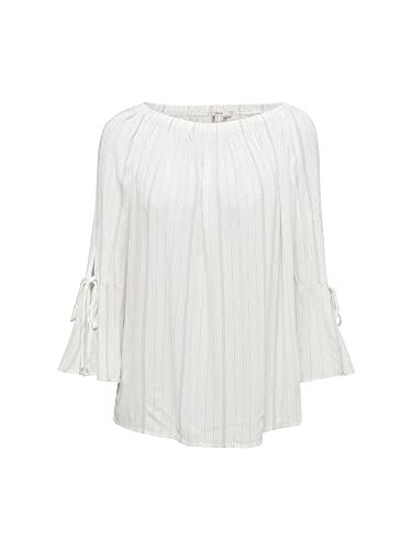 ESPRIT Bluse mit elastischem Ausschnitt