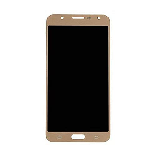 DDBAKT Reemplazo de pantalla para teléfono móvil duradero de pantalla LCD táctil digitalizador compatible con Samsung Galaxy J7 2016 J710 SM-J710M Pantalla LCD táctil (color negro): dorado