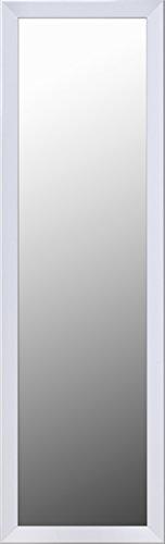Mirrorize Door/Floor Mirror, Shatter Proof, 50X14, White
