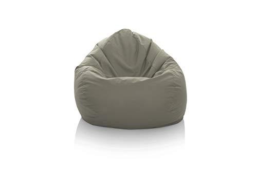 GlueckBean Gamer Pouf poire Tailles XXXL XXL XL Grande fauteuil de salon pour intérieur et extérieur Avec garnissage en polystyrène EPS, anthracite, XXL-320