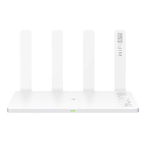 HONOR Router 3 Wi-Fi 6 Plus 3000 Mbit/s OFDMA-Technologie, Verbessertes Wi-Fi 5 bei 160 MHz Bandbreite, Mesh-Netzwerk Neuester Sicherheitsschutz & AI Life App weiß
