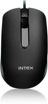 Intex ECO-7 Wired USB Optical Mouse Wired Optical Mouse (USB 2.0, Black)