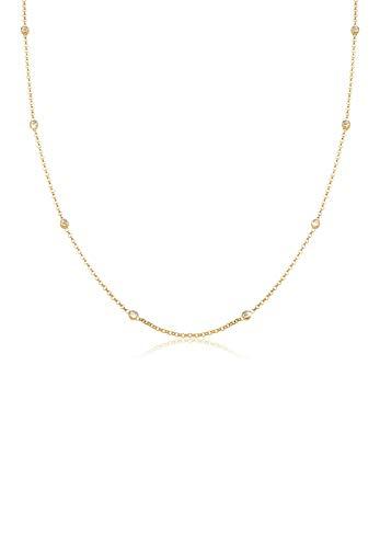 Elli Halskette Elli Damen Halskette Solitär Basic mit Swarovski Kristallen in 925 Sterling Silber