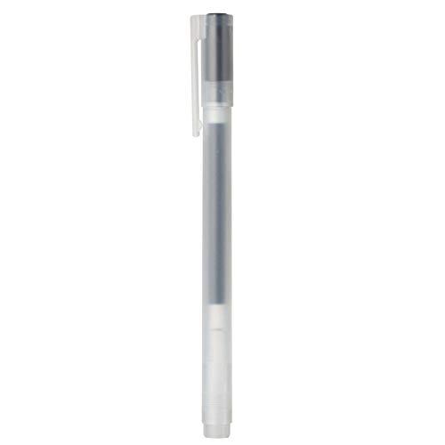Muji - Bolígrafo de tinta de gel, color negro, 5 unidades