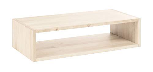 BioKinder 22282 Laura Regalwürfel Regalelement Regal offen aus Massivholz Kiefer 20 x 80 cm weiß lasiert