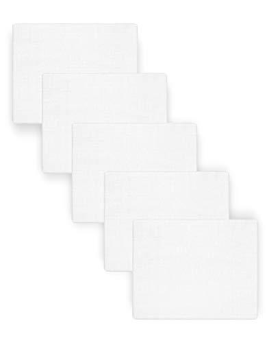 Be Mammy Baby Windelsets Stoffwindeln Mulltücher 80x80 cm 5er Pack BESD001 (Weiß (5 Pack), 80x80)