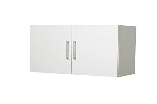 """Beauty.Scouts Möbel Colletion Semper Aufsatz-/Hängeschrank Veronika 2"""", weiß, 2 Türen, 80 x 40 x 39 cm, Haushaltsschrank, Mehrzweckschrank"""