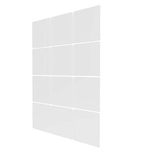Separadores Ambientes Paneles de 12 Piezas - 83x117.5cm - Blanco Paneles De Separacion De Ambientes Separadores Oficina Biombo para Estantes De Armario Empotrado