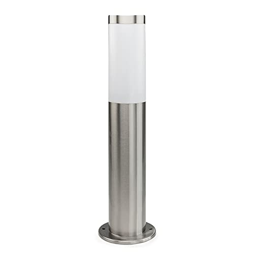 DBLV LED Stand-Außenleuchte mit LED Leuchtmittel - Wege-Leuchte aus Edelstahl - Außenlampe - Hoflampe - Garten-Lampe für Balkon & Rasen