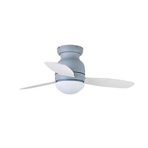 Fan Licht Plafond Ventilator Licht Amerikaanse Eenvoudige Woonkamer Eetkamer Slaapkamer Home Afstandsbediening Geladen Ventilator Kroonluchter Mute (Kleur: Grijs Maat: 42 inch)