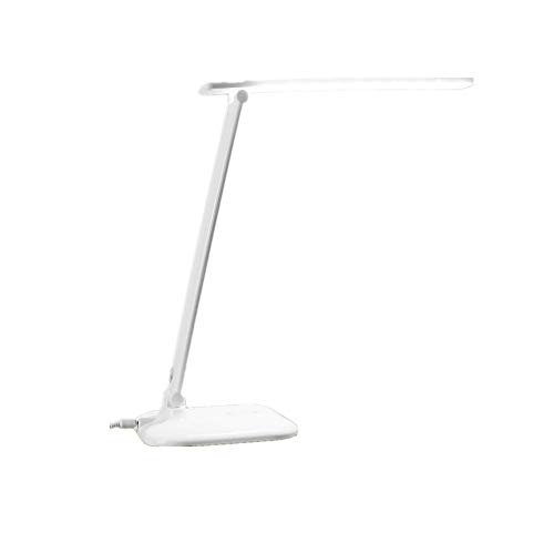 ZLD LED Table lamp Foldable Touch dimmable Table lamp for Study Office Bedroom Reading White Table lamp LED Table with USB Charging Port