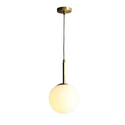 LIUYU Bola de Cristal Pendiente de la luz de Noche Colgante de la lámpara de la Bola de la lámpara del Accesorio de iluminación Isla de Cocina nórdica Loft CE Suspensión