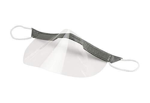 (3 x M) 3 piezas de protección bucal reutilizable para la cara, máscara respiratoria, máscara de protección para la boca y la nariz de plástico transparente