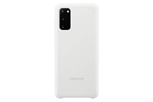 Samsung Electronics Galaxy S20 Case, Silicone Back Cover - White (US Version with Warranty), Model: EF-PG980TWEGUS