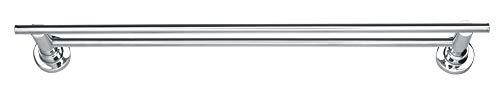 Tesa luup doppelt Badetuchstange (60cm, inkl. Klebelösung, verchromt, rostfrei, zwei Stangen, 50mm x 600mm x 120mm)