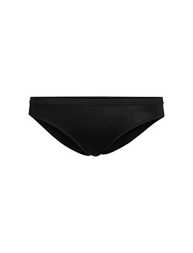 Icebreaker Damen Funktionsunterwäsche Siren Bikini, Black, M, 103164001