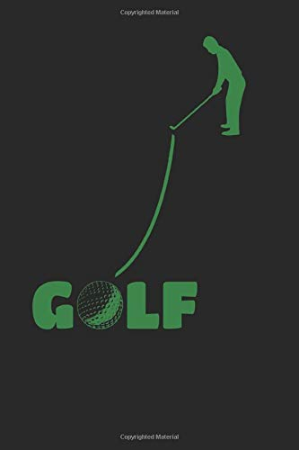 GOLF notebook: GOLF Journal, 6x9 inch, 108 pages, light dot- ruled paper with golfball icon on each page, cover: putt