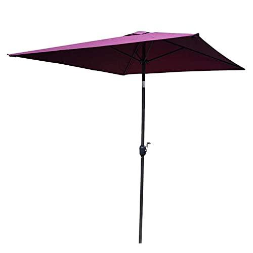 ERLAN Parasol Jardin Sombrilla de Mesa de Mercado Cuadrado Marquesina de Poliéster, Sombrilla de Patio Sombrillas para Jardín Villa Yate, Ajuste de Inclinación - Púrpura (Size : 2×2m/6.6×6.6ft)