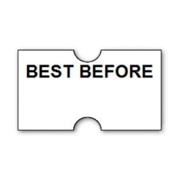 Gato CT1 22mm x 12mm Price Gun Labels White Pre Printed Best Before 10...