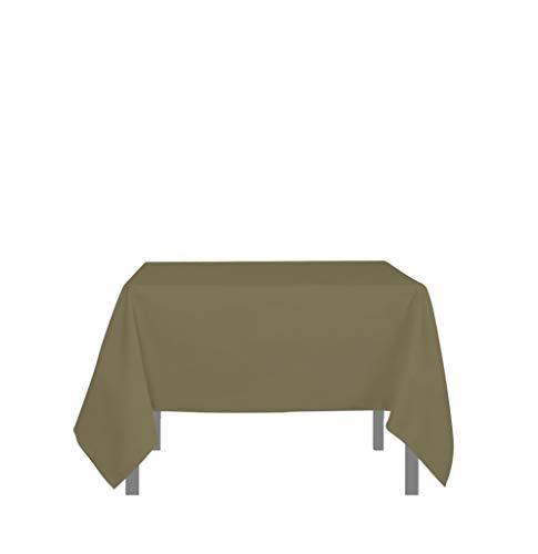 Tafelkleed met vlekbescherming vierkant 180x180 cm ALIX taupe
